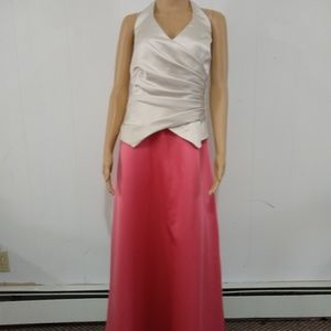 Ivory & Pink Jordan prom/bridesmaids dress size 16